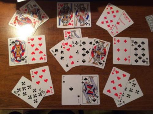 адание на Даму и Короля на любовь на игральных картах